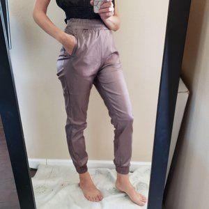 REHAB Metallic High Waisted Jogger Style Pants M